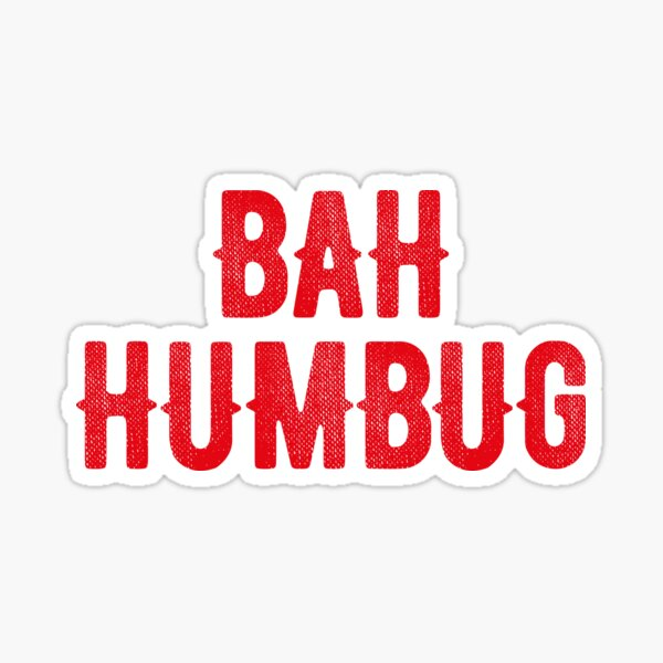 Bah Humbug (red) Sticker