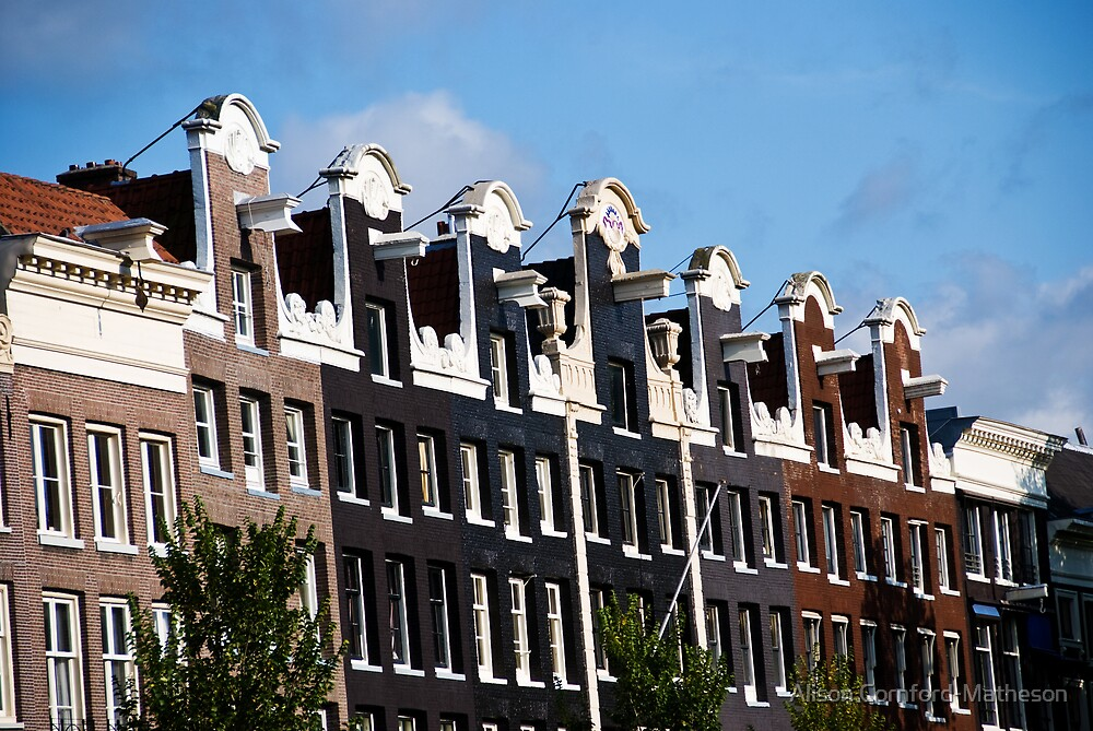 Amsterdam Canal Houses by Alison Cornford-Matheson