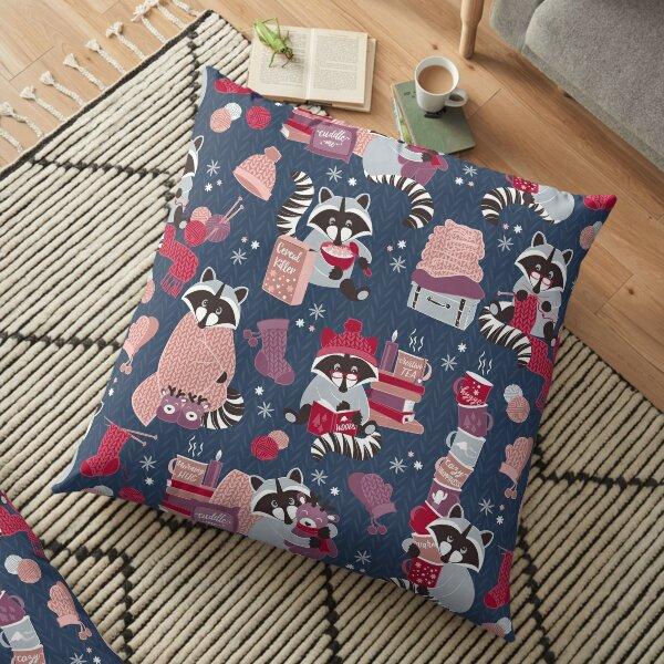 Hygge raccoon Floor Pillow