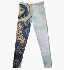 Floral spiral goddess Leggings