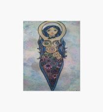 Floral spiral goddess Art Board