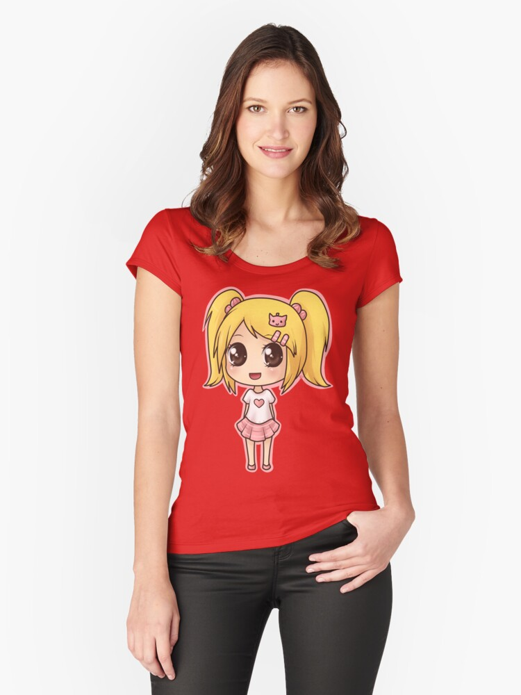 little doll -  a beautiful doll - little doll Women's Fitted Scoop T-Shirt Front