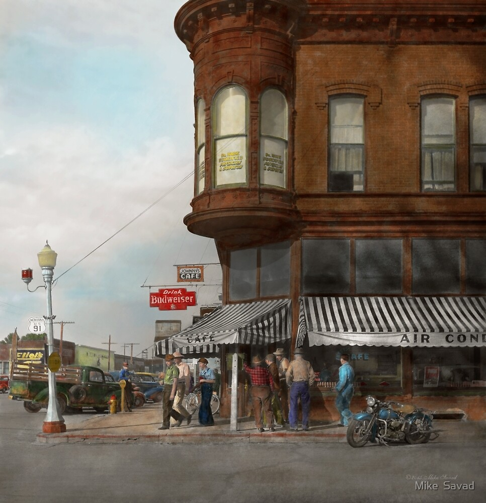 City - Dillon, Montana - Today's my day off - 1942 by Michael Savad