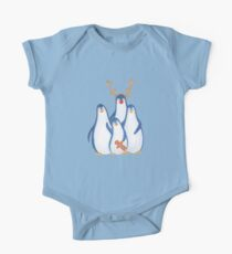 family of festive christmas penguins One Piece - Short Sleeve