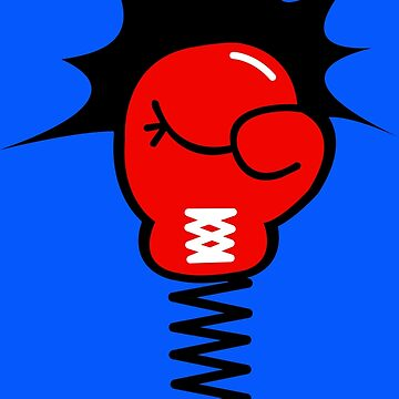 Comic Book Punch Boxing Glove on Spring by CreativeTwins