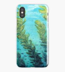 Traditional Watercolor Giant Sea Kelp Forest iPhone Case/Skin