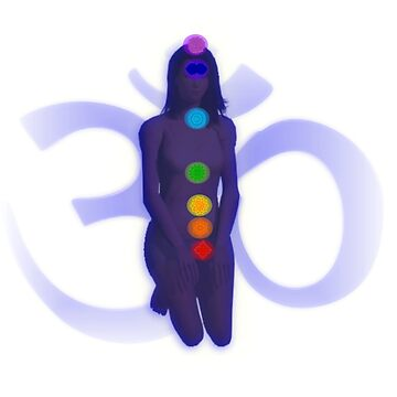 Chakra Mediation-Blue with OM by m2inspiration