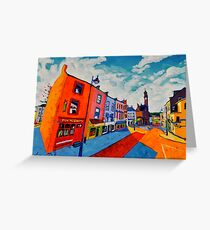 Ballyshannon. Main Street. Donegal, Ireland Greeting Card
