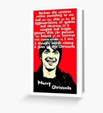 Atheist Christmas with Brian Cox Greeting Card