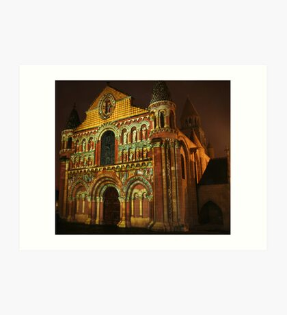 Poitiers Cathedral by Night Art Print