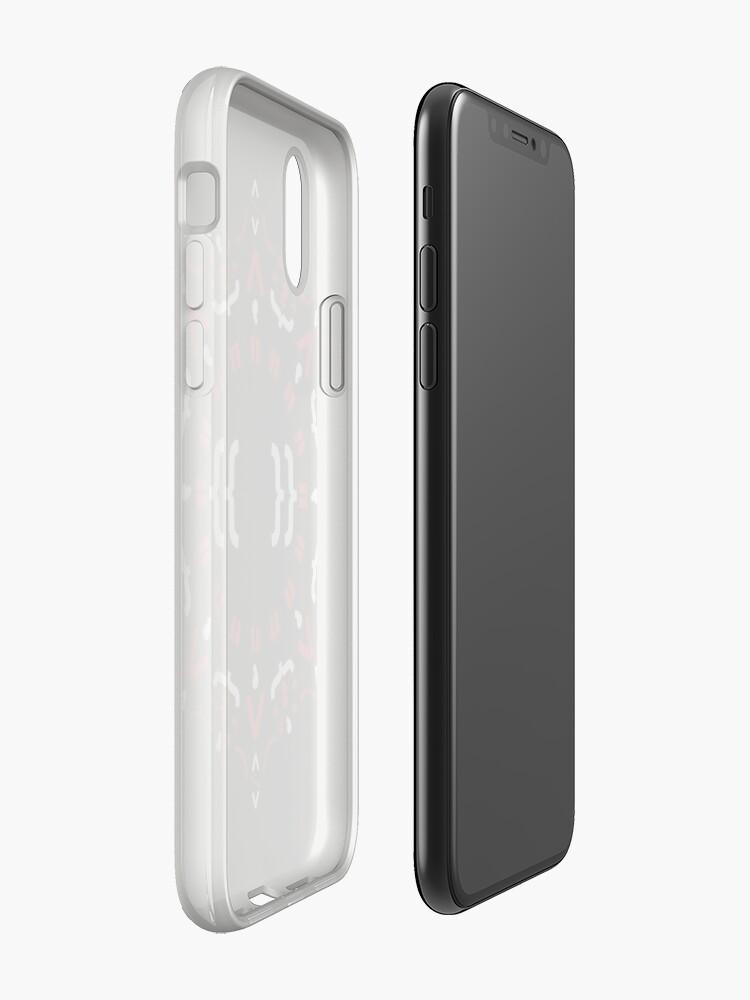 Alternative Ansicht von Code Mandala - Eckiges Framework - dunkle Version iPhone-Hüllen & Cover
