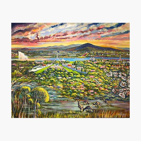 Canberra Panorama from the Red Hill. Photographic Print