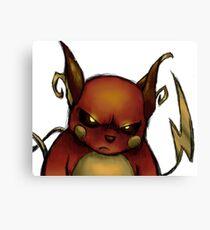 pokemon custom riachu awesome Canvas Print
