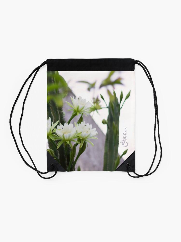 Alternate view of Princess of the Night - Blooming in Abundance Drawstring Bag
