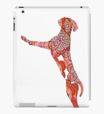 Hi 5 Floral Orange Dog  iPad Case/Skin