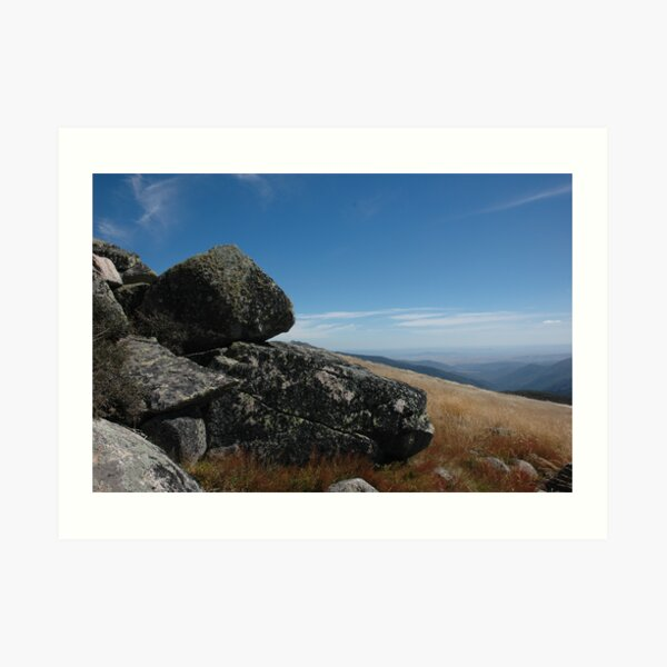 Mt Stirling summit - Victorian High Country Art Print