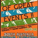 Vintage South Australia Travel Advertisement Art Poster by jnniepce