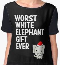Worst White Elephant Gift Ever Funny Gag Humor Gifts Chiffon Top