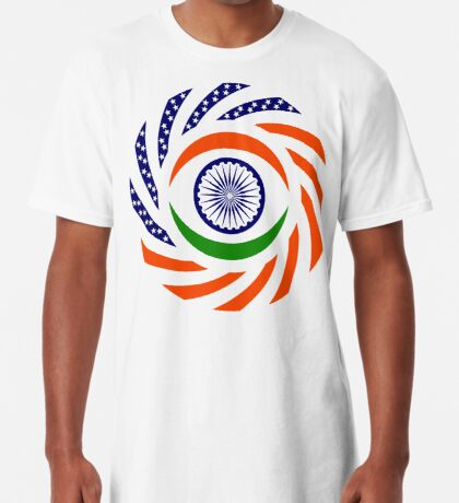 Indian American Multinational Patriot Flag Series Long T-Shirt