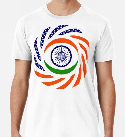 Indian American Multinational Patriot Flag Series Premium T-Shirt