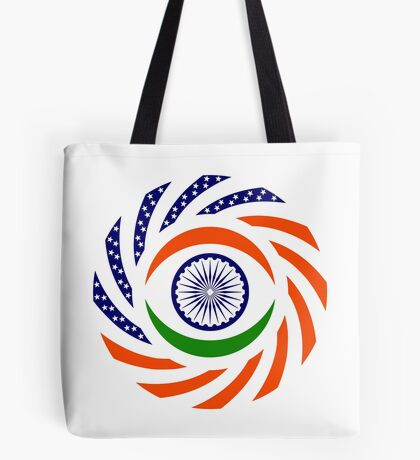 Indian American Multinational Patriot Flag Series Tote Bag