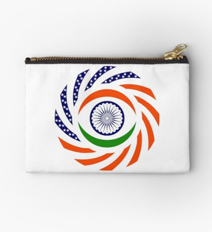 Indian American Multinational Patriot Flag Series Zipper Pouch