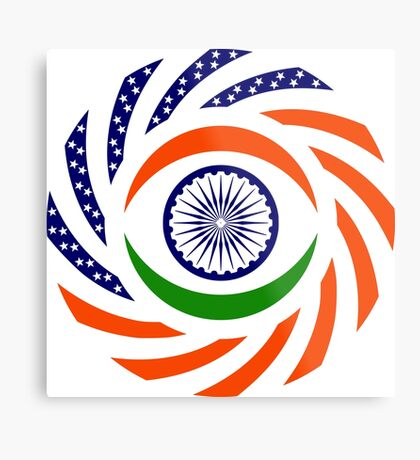 Indian American Multinational Patriot Flag Series Metal Print
