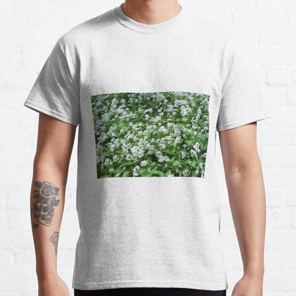 Up Close to Wild Garlic Flowers Classic T-Shirt
