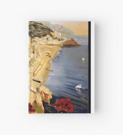 Vintage Amalfi Italy Travel Advertisement Art Poster Hardcover Journal