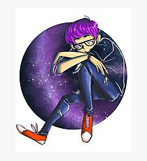 Boy lost in space Photographic Print