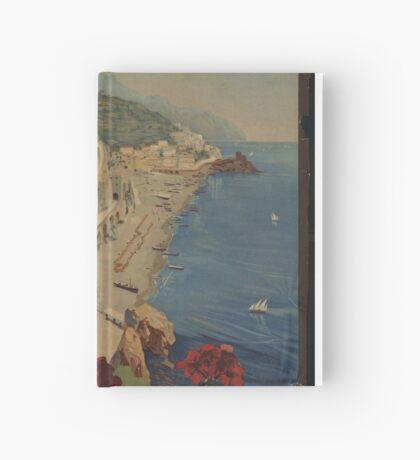 Vintage Amalfi Napoli Italy Travel Advertisement Art Poster Hardcover Journal