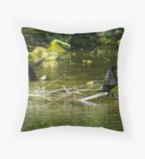 Shag on a Stick Throw Pillow