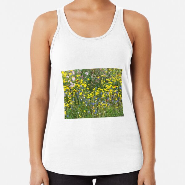 Patch of Colourful Wildflowers Racerback Tank Top