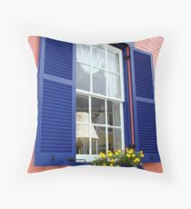 Window and Flower box Throw Pillow