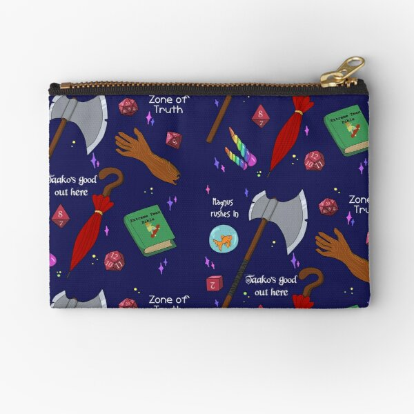 TAZ Pattern in Blue Zipper Pouch