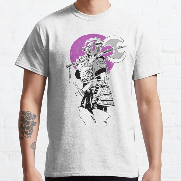 Purple Warrior - Labrys Amazon - Queer Fighter Classic T-Shirt