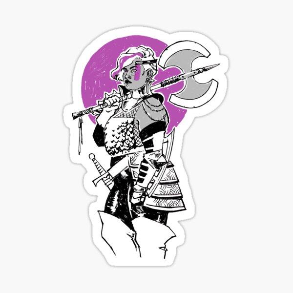 Purple Warrior - Labrys Amazon - Queer Fighter Sticker