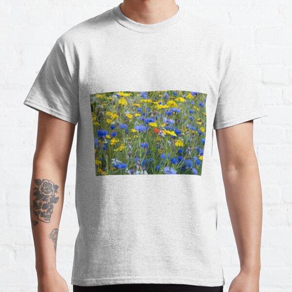 Blue Cornflowers and Yellow Daisies Classic T-Shirt