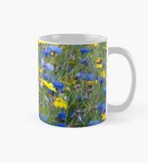 Blue Cornflowers and Yellow Daisies Mug