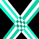 Intersections in turquoise black variation by Anita Morris