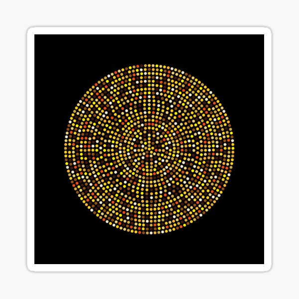 Gold Circle Spots Sticker