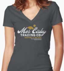 Mos Eisley Trading Co. Women's Fitted V-Neck T-Shirt