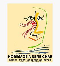 HOMMAGE A RENE CHAR: Picasso Kunstausstellung Werbedruck Fotodruck