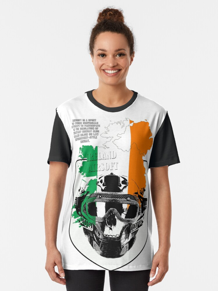 Alternate view of Airsoft Ireland T-shirts Graphic T-Shirt