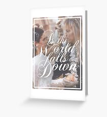 As the world falls down - Labyrinth Greeting Card