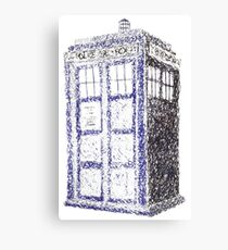 Tardis - Dr Who Canvas Print