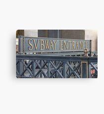 Svbway Entrance Canvas Print