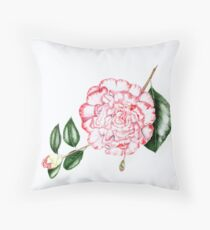 Camellia Margaret Davis Throw Pillow