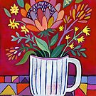 Red Protea by Janet Broxon