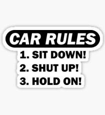 Auto Regeln Sticker